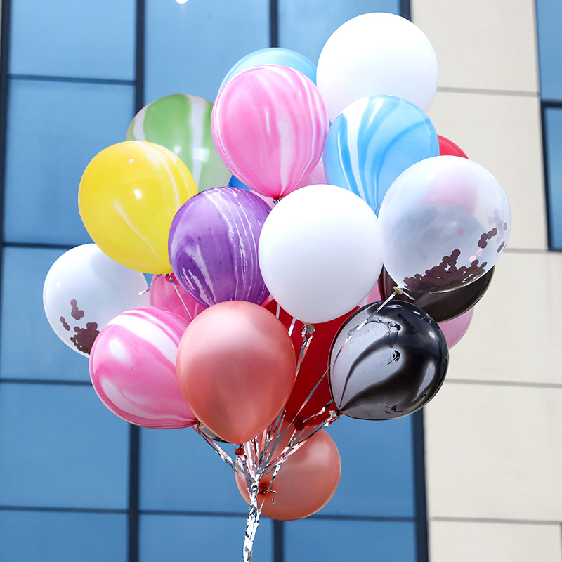 """Marble Effect Latex 12/"""" Birthday Party Any Occasions Pack of 6 Deluxe Balloons"""